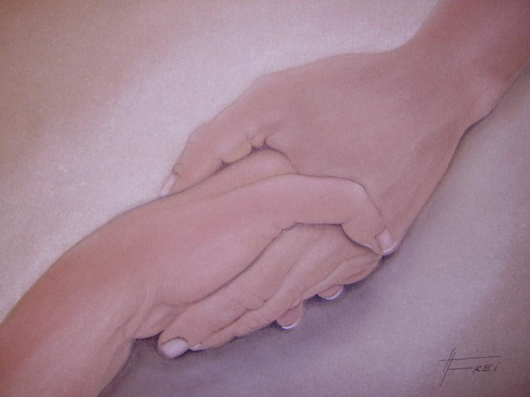 """ART HFrei - """"Reich mir die Hand"""" - Pastell - 2006"""
