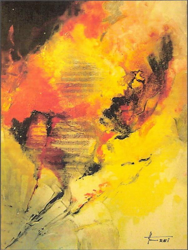 """ART HFrei - """"Der Komponist"""" - Acryl - 2008"""