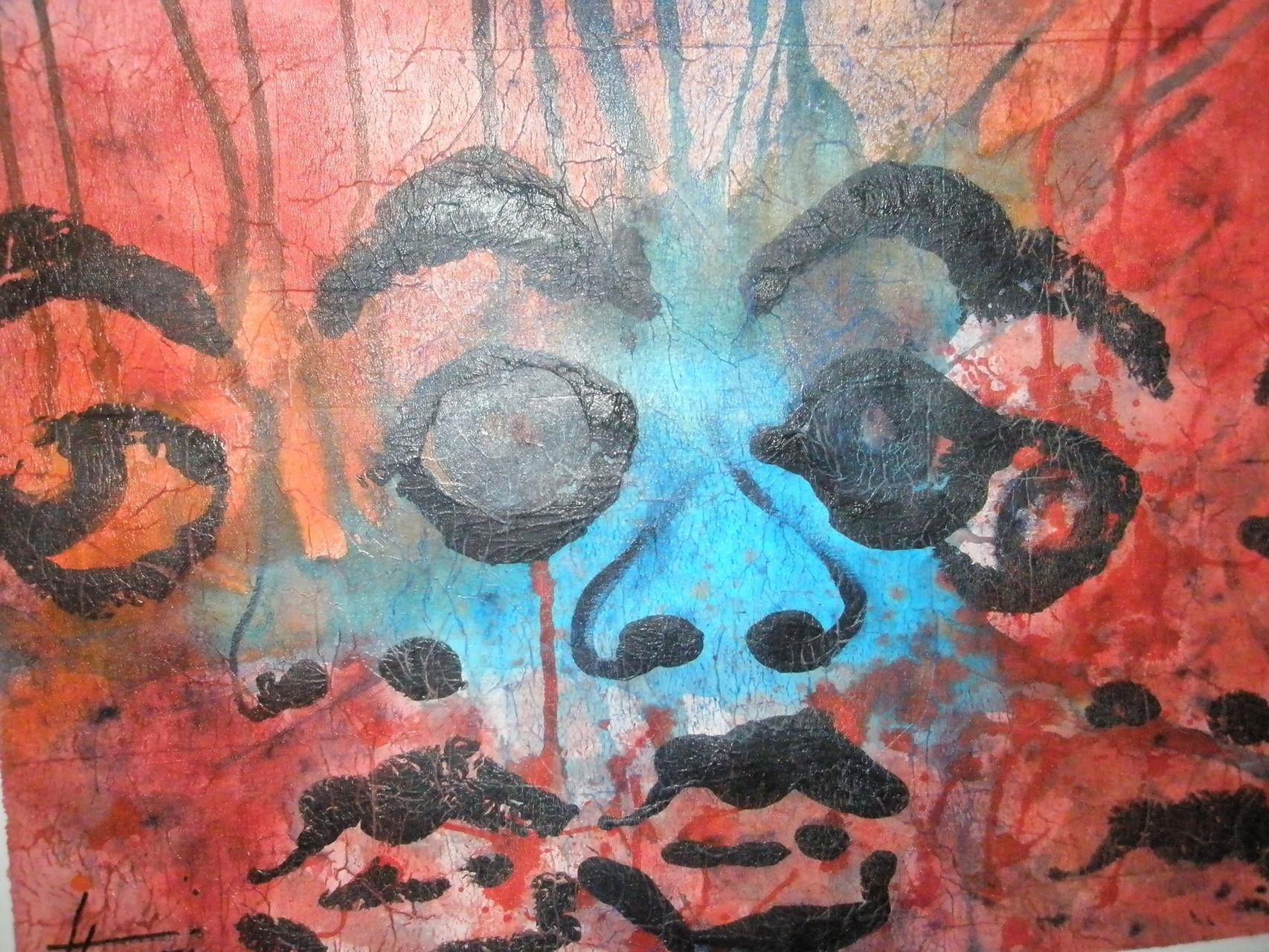 """Doppelsicht"" - Acryl - 2009"