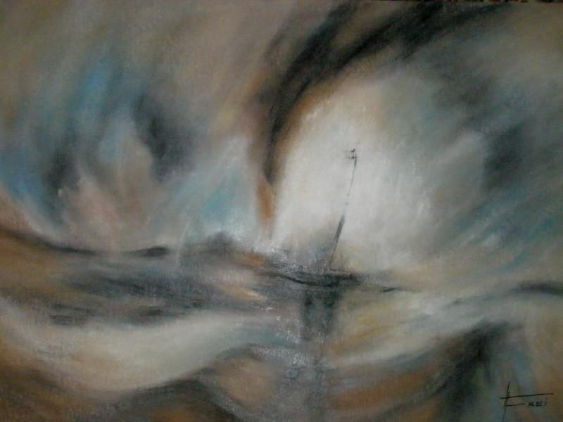 """ART HFrei - """"Nach W. Turner"""" - Ölpastell - 2008"""