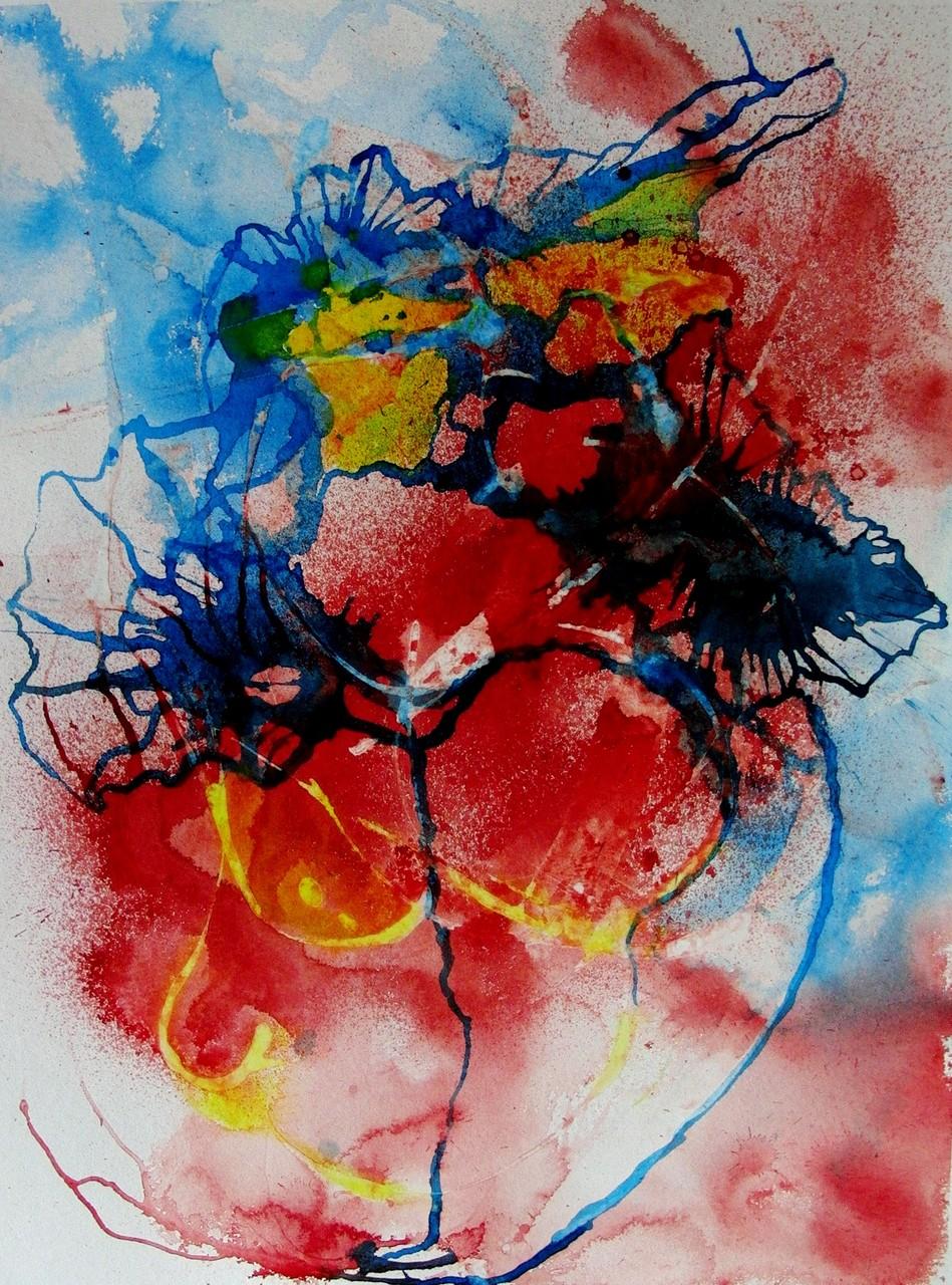"""ART HFrei - """"Beherzt"""" - Aquarell - 2011"""
