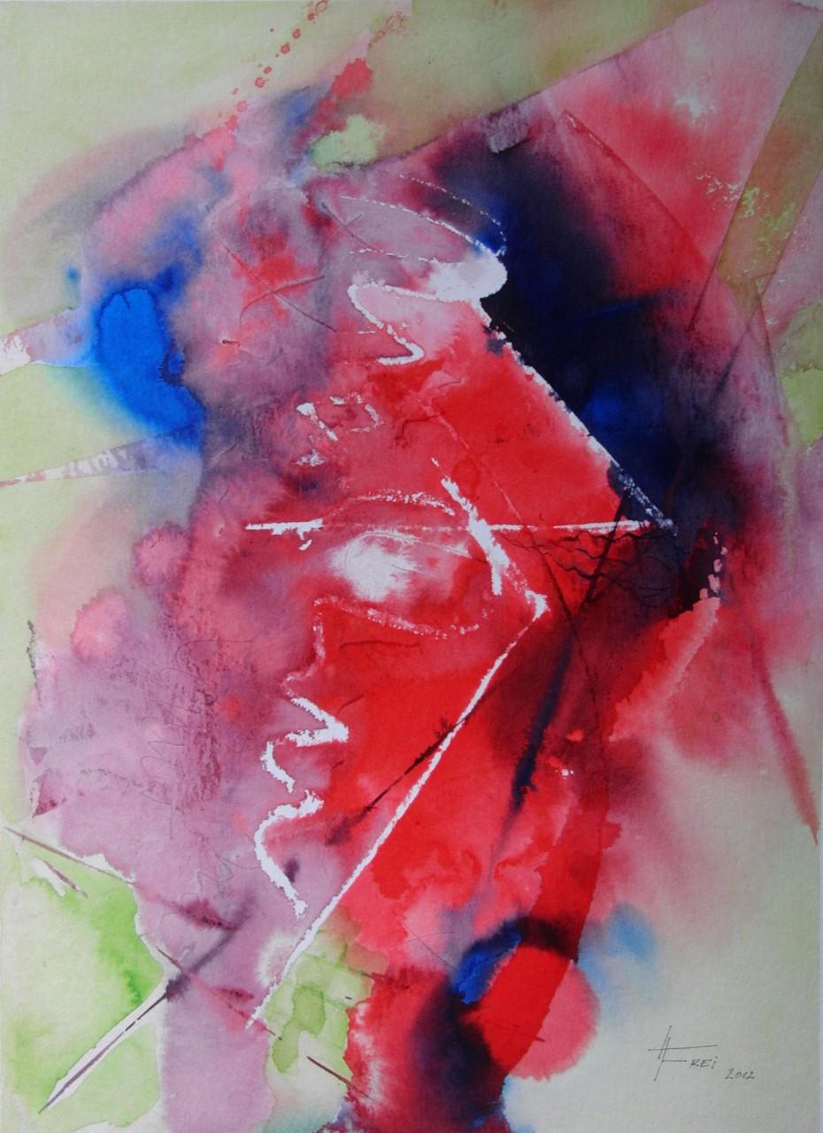 "ART HFrei - ""Dialog II"" - Aquarell - 2012"