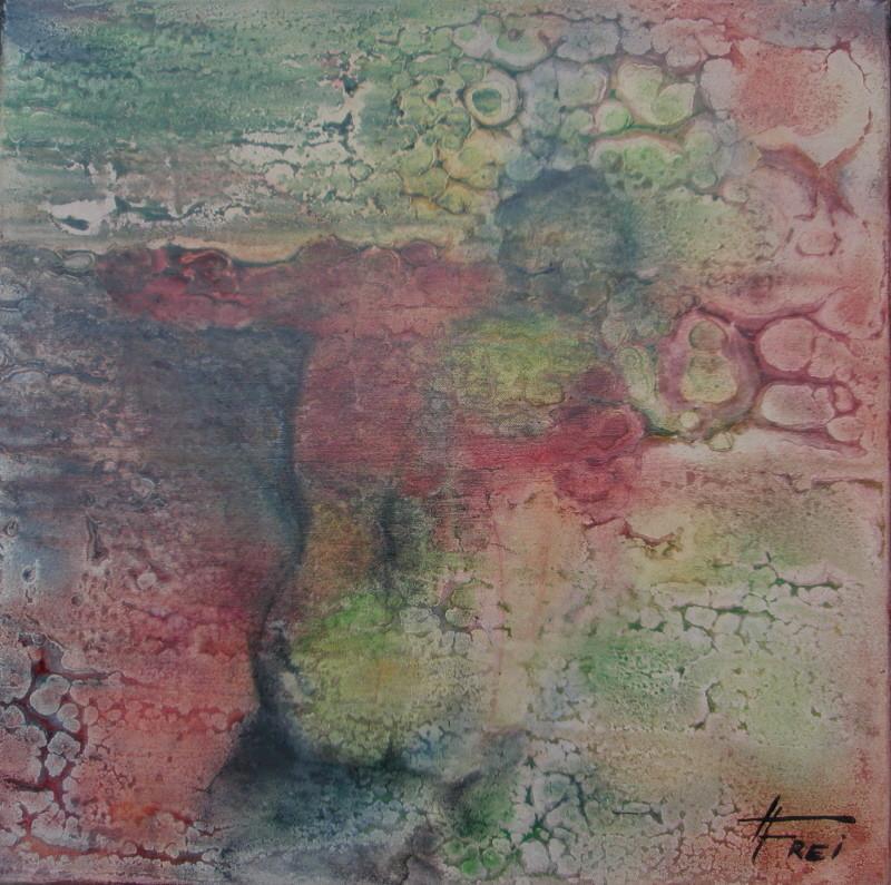 """ART HFrei - """"Eingeklemmt"""" - Acryl-Mischtechnik - 2008"""