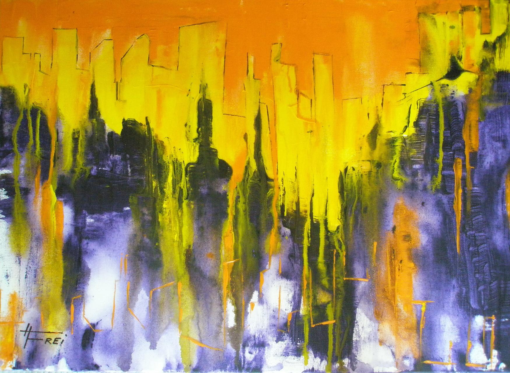 """""""Tönende Stadt"""" - Acryl - 2008"""