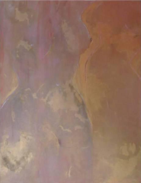 "ART HFrei - ""Gläserne Lady"" - Pastell-Mischtechnik - 2010"