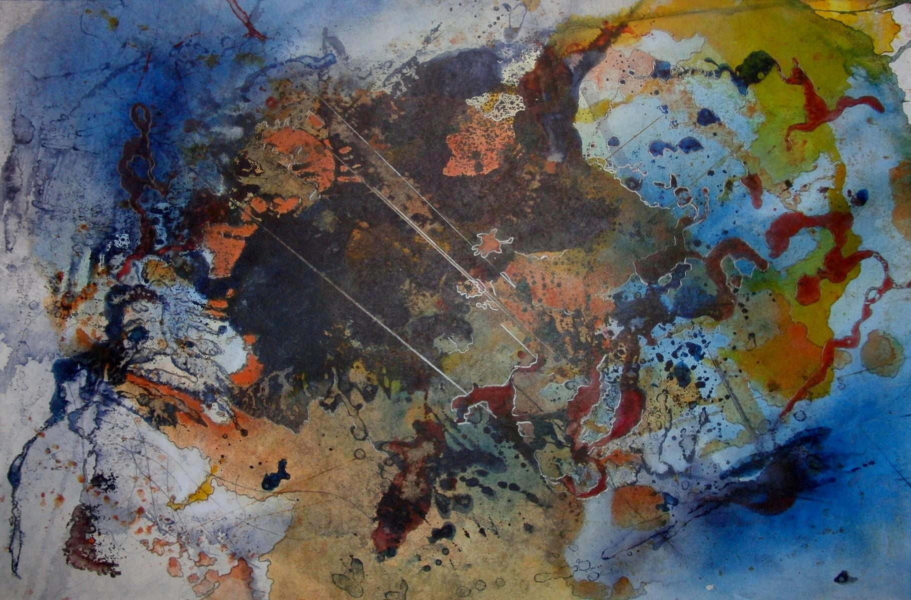 """ART HFrei - """"Ungeboren"""" - Aquarell -2012"""