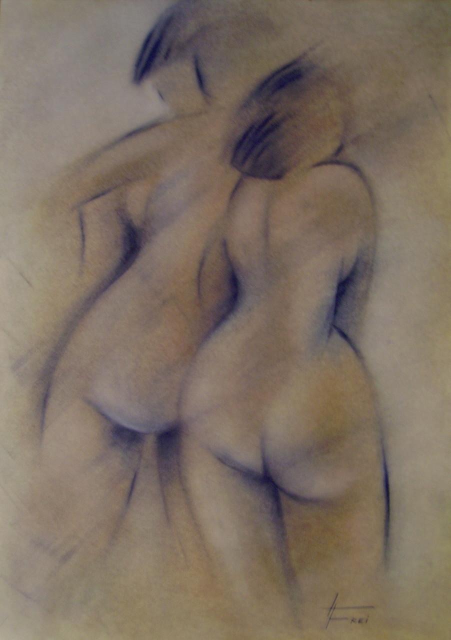 """ART HFrei - """"Duo"""" - Pastell - 2008"""