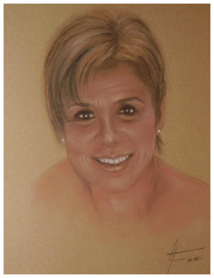"""""""Maria Kornelia"""" - Pastellkreide - 2006"""