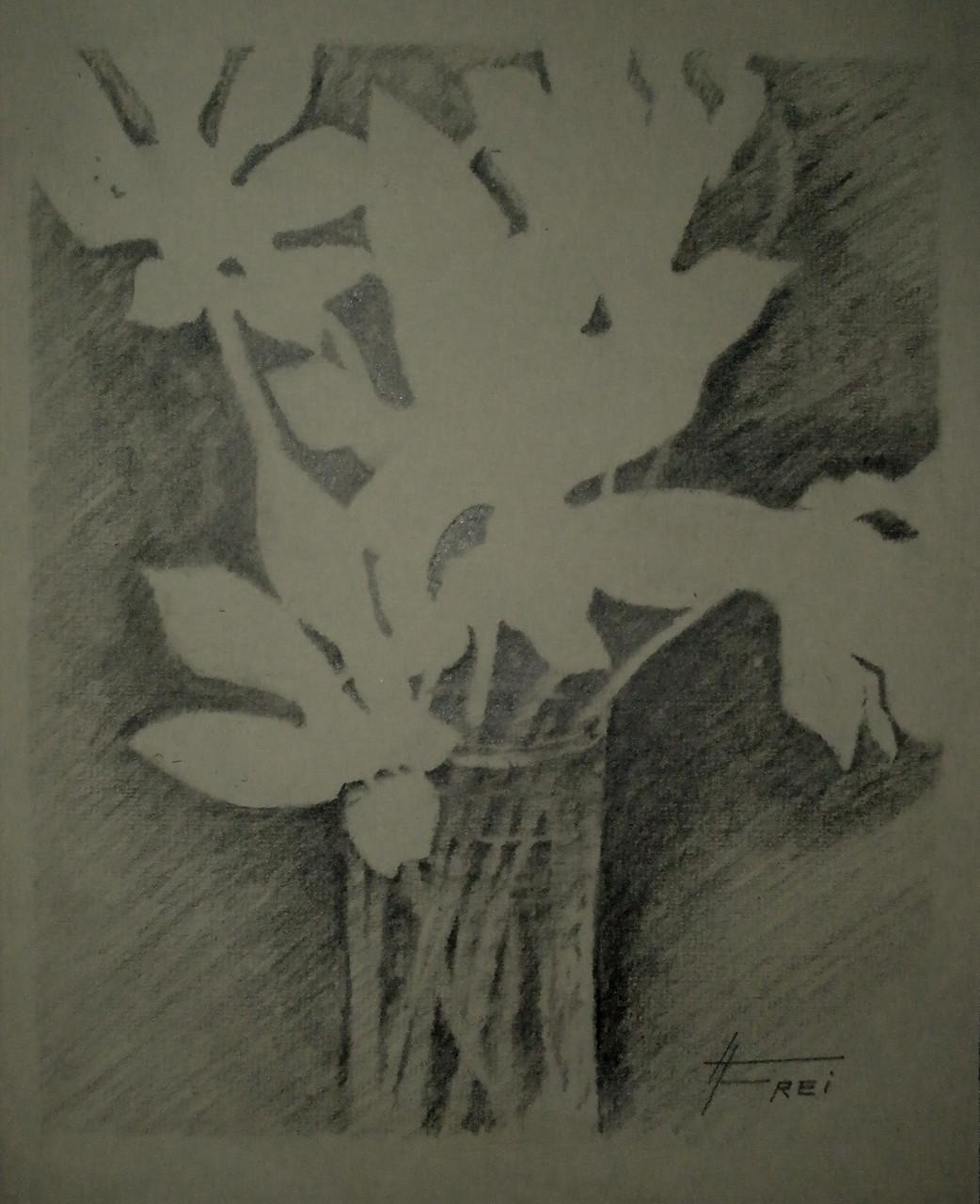 """""""Blumenvase"""" - Bleistift - 2007"""