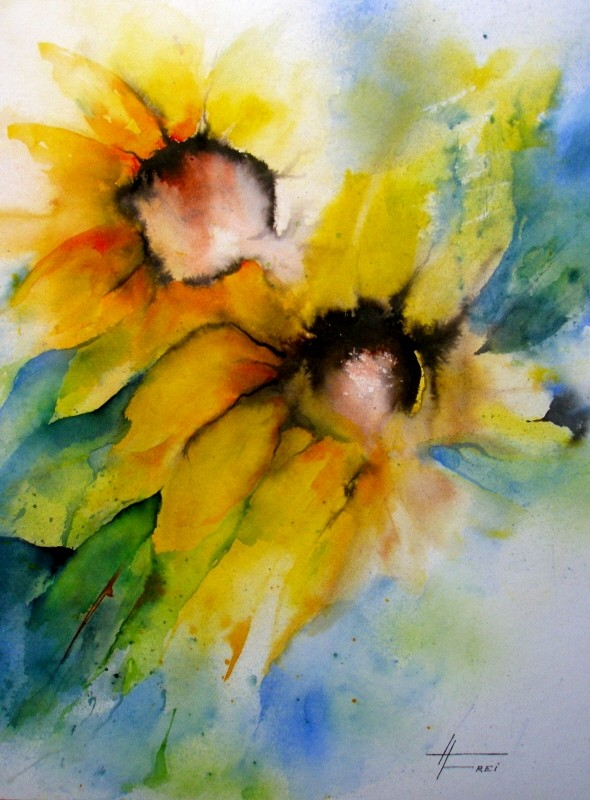 "ART HFrei - ""Duo"" - Aquarell - 2008"