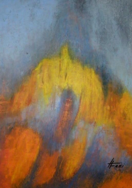 """""""Stürmisch"""" - Ölpastell - 2008"""