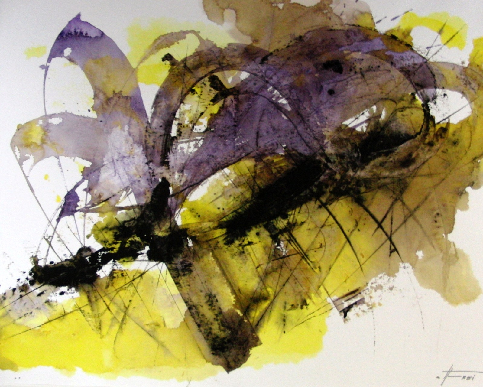 "ART HFrei - ""Kraft II"" - Aquarell - 2011"
