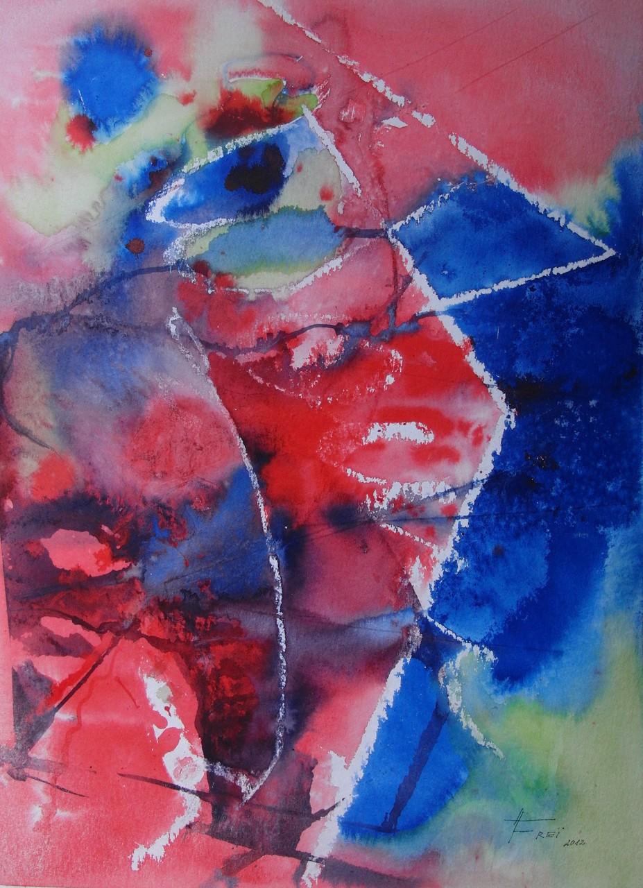 """ART HFrei - """"Dialog I"""" - Aquarell - 2012"""