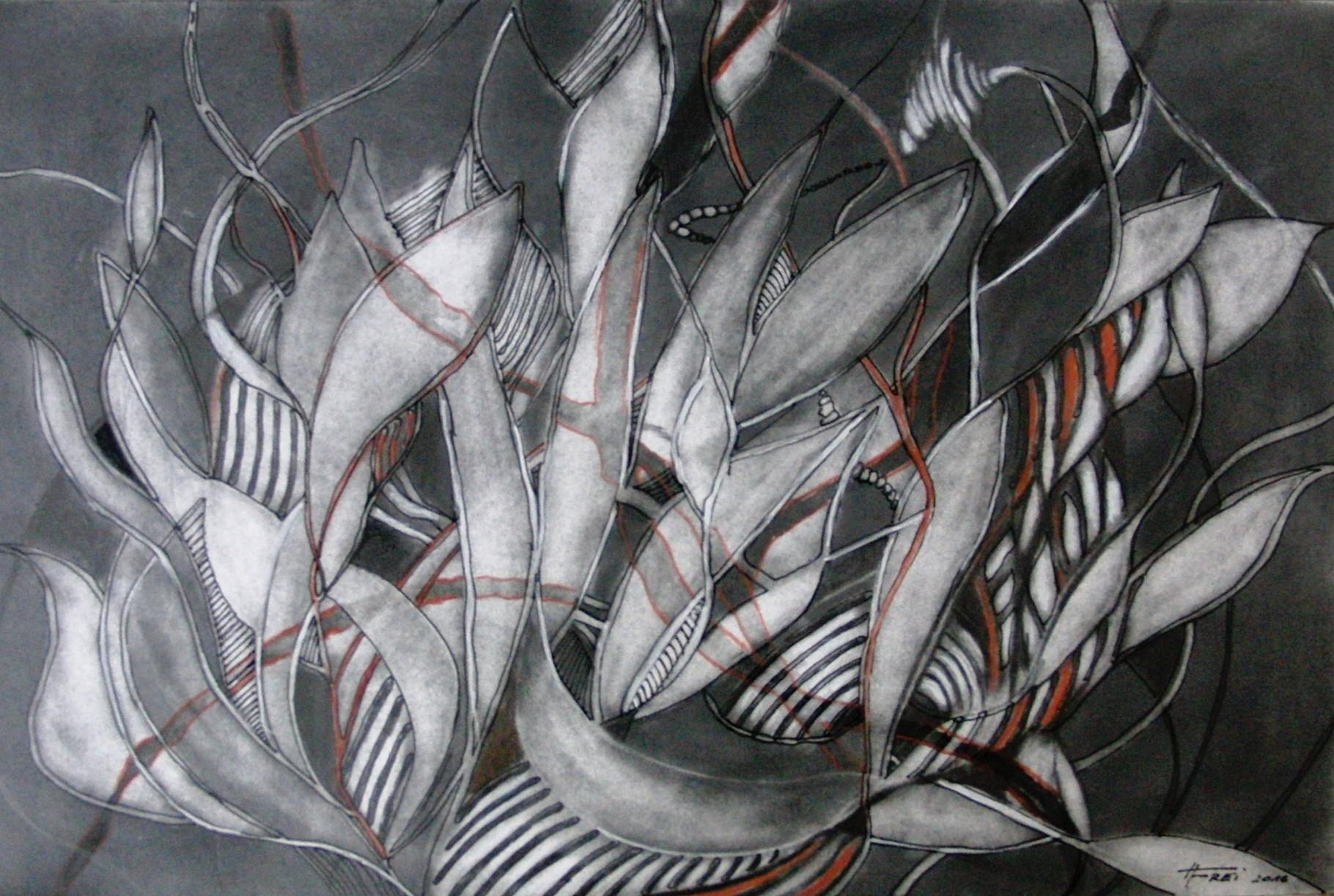 """ART HFrei - """"Verbandelt"""" - Graphit - 2016"""