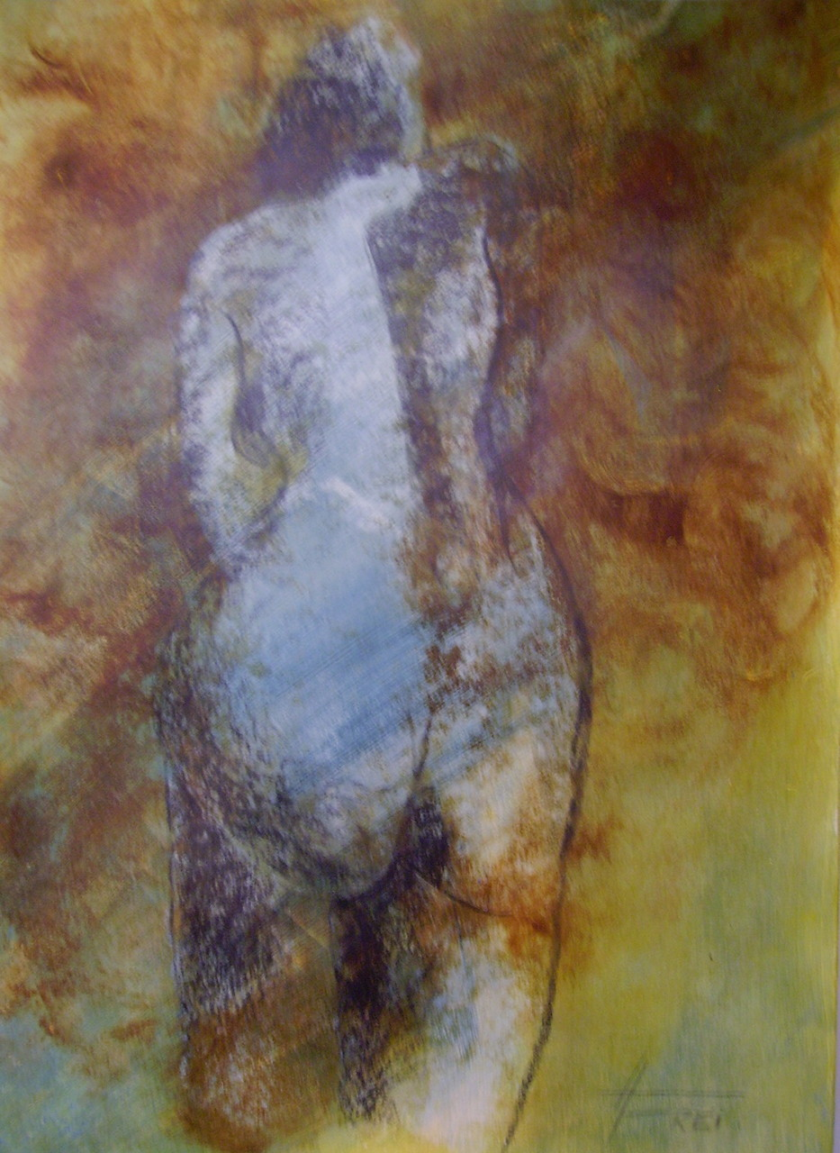 """ART HFrei - """"Go Away"""" - Pastell-Mischtechnik - 2009"""