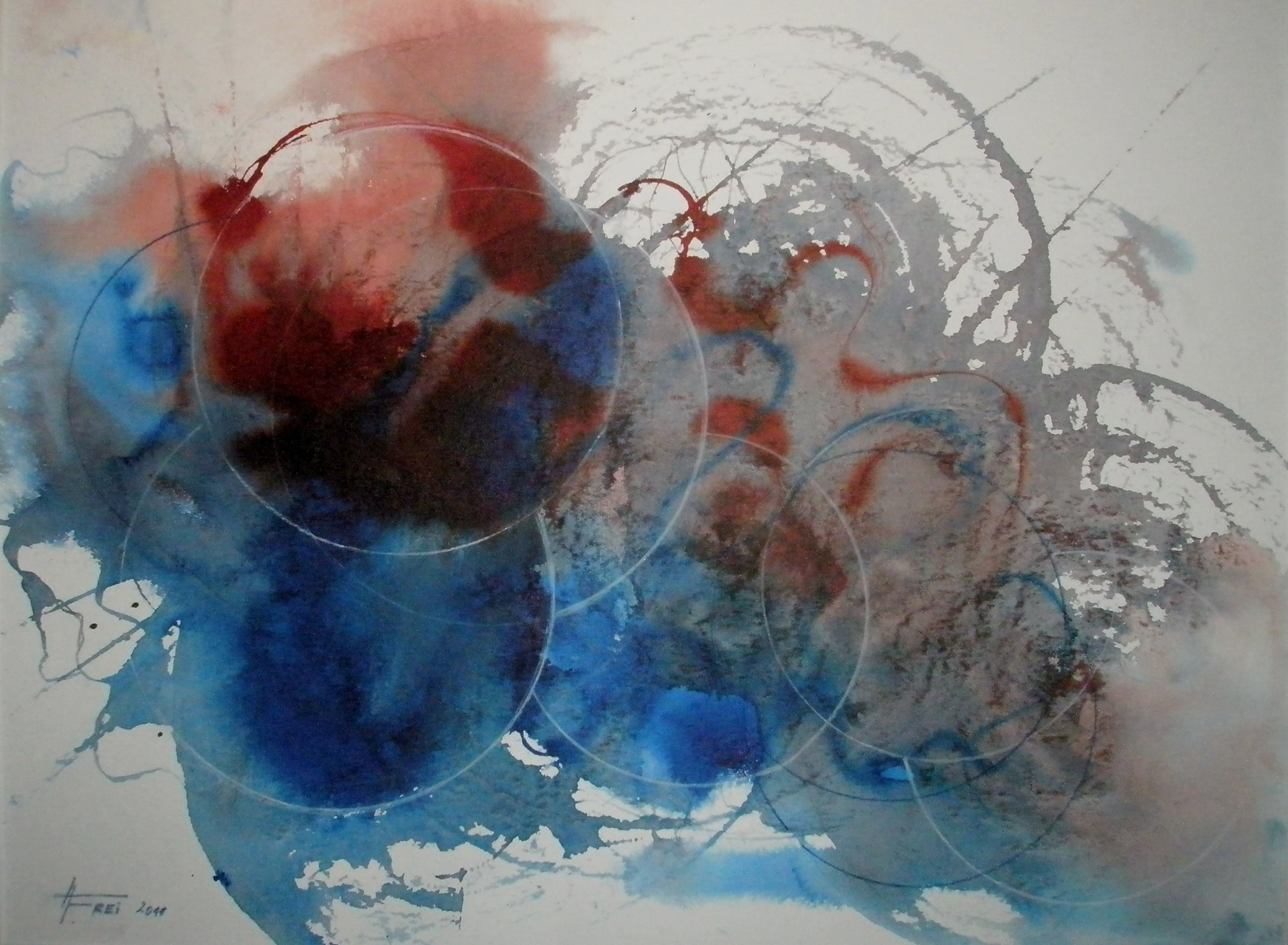 "ART HFrei - ""Alles dreht sich"" - Aquarell - 2011"