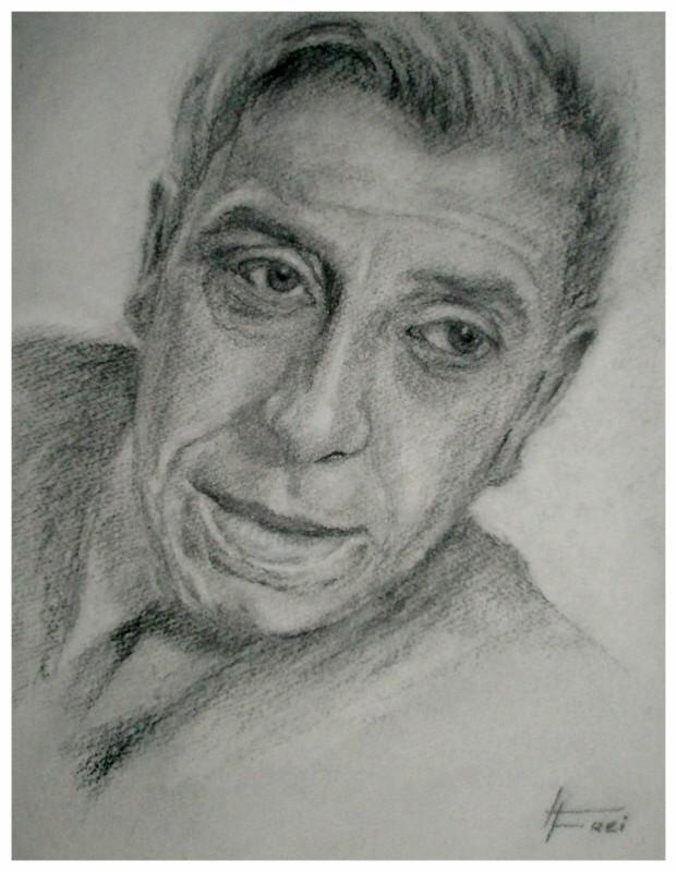 """ART HFrei - """"Don Camillo"""" - Kohlestift - 2008"""