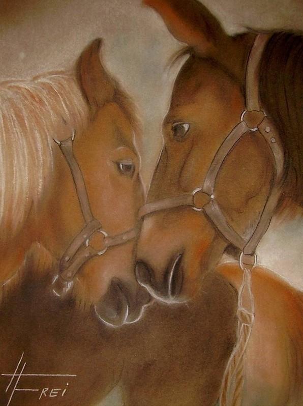 """ART HFrei - """"Pferdeliebe"""" - Pastell - 2006"""