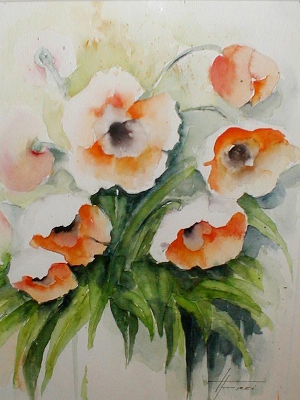 "ART HFrei - ""Tulpen"" - Aquarell - 2005"