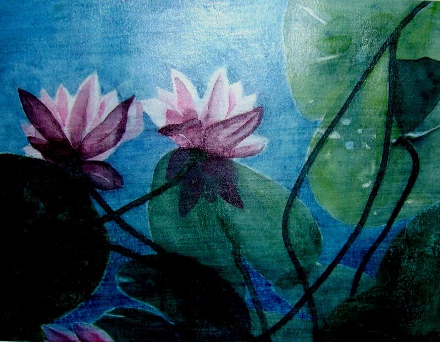 """ART HFrei - """"Blick nach oben"""" - Aquarell - 2007"""