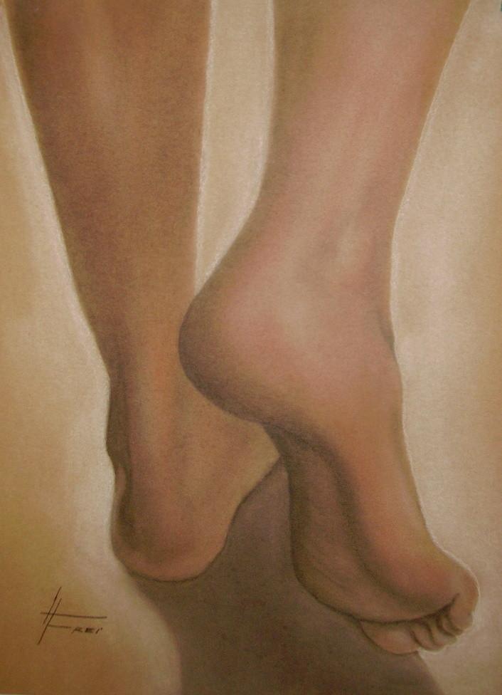 """ART HFrei - """"Er"""" - Pastell - 2006"""