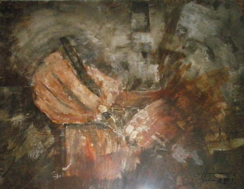 """ART HFrei - """"Die Unterchrift"""" - Acryl - 2008"""