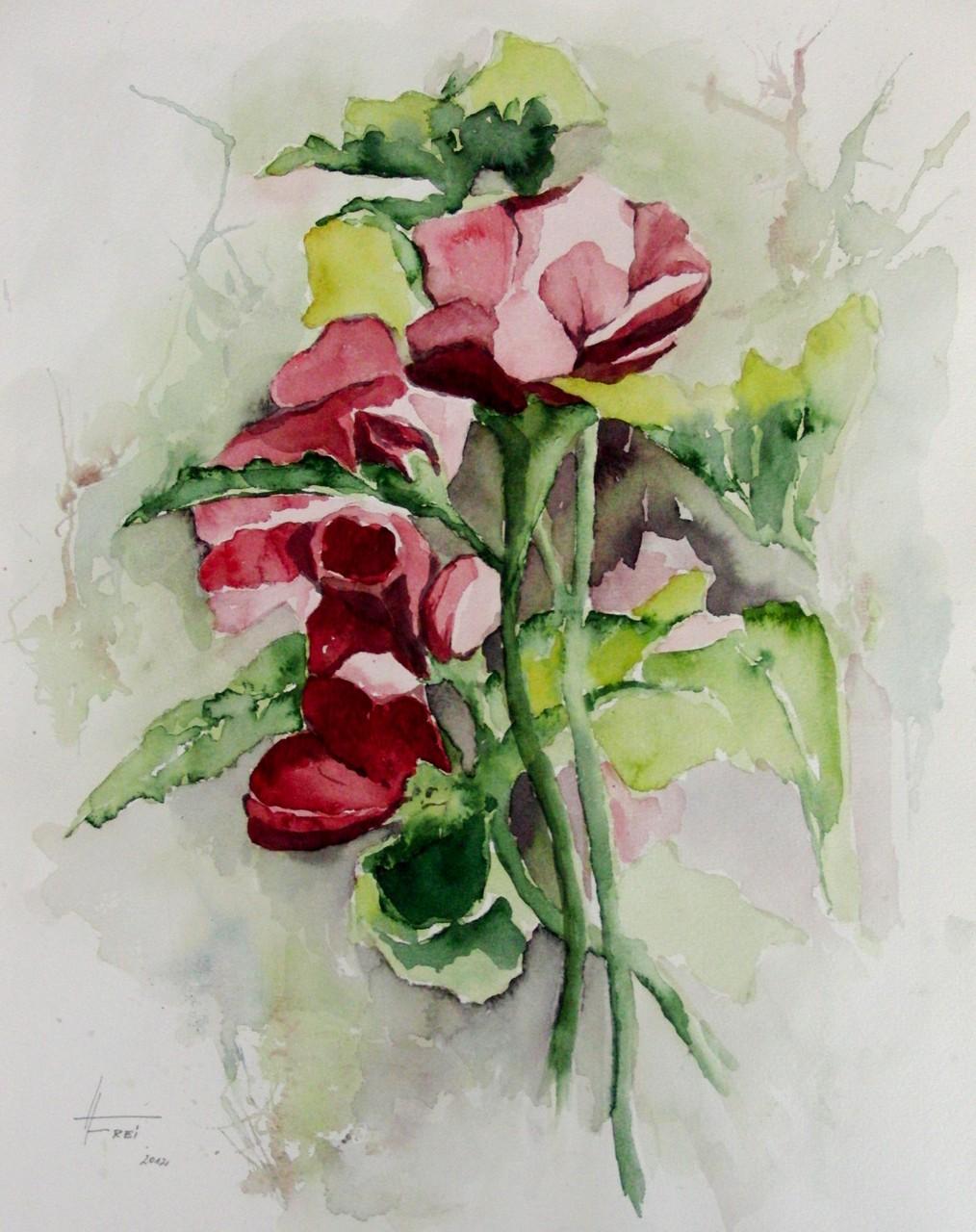 "ART HFrei - ""Hibiskus"" - Aquarell - 2012"