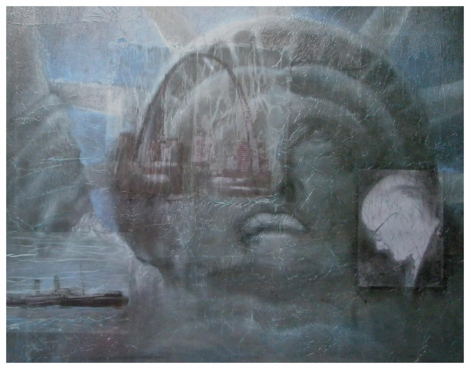 """Mein Amerika"" - Mischtechnik - 2009"