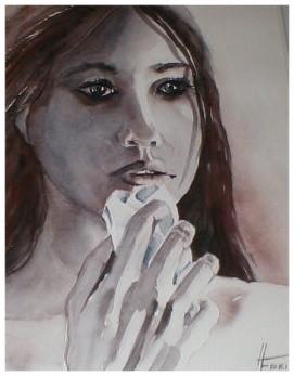 """ART HFrei - """"Weinen"""" - Aquarell - 2006"""