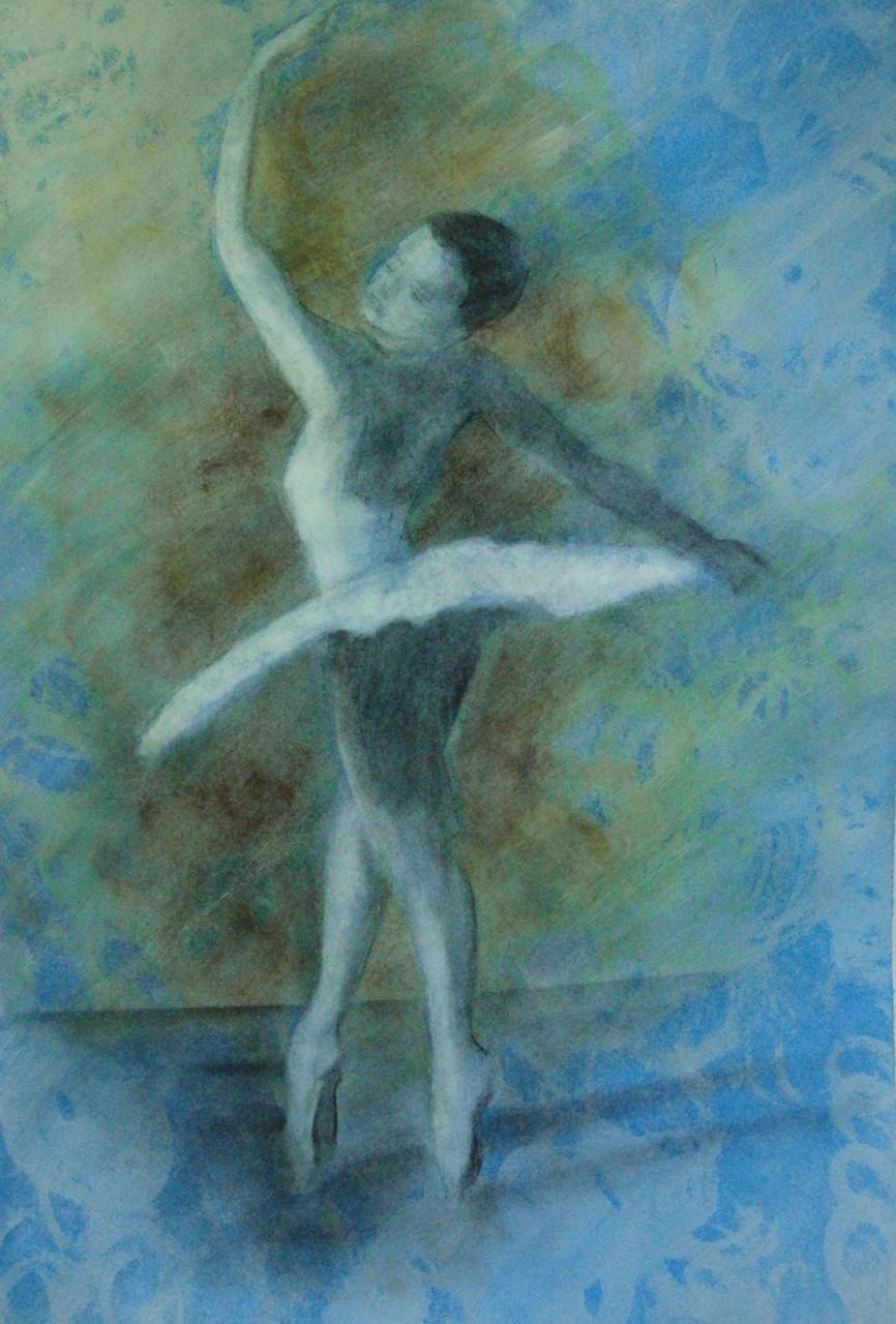 """ART HFrei - """"Ballerina"""" - Pastell-Mischtechnik - 2011"""