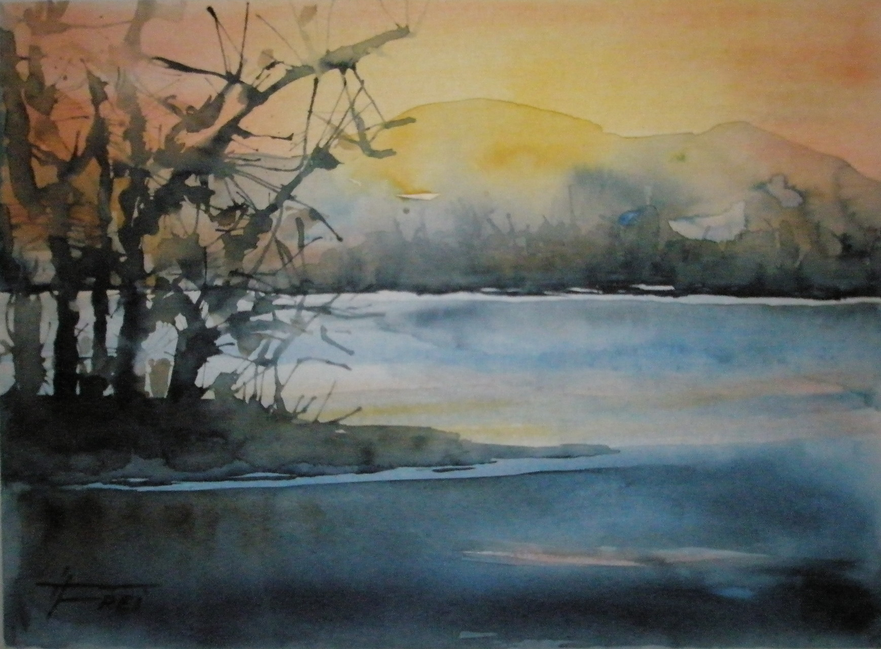 "ART HFrei - ""Am See"" - Aquarell - 2008"