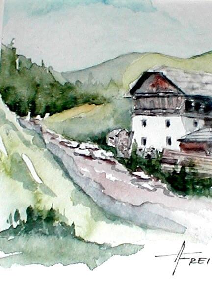 """ART HFrei - """"Auf der Alm"""" - Aquarell - 2005"""