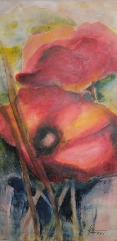 """ART HFrei - """"Mohn"""" - Öl-Mischtechnik - 2008"""
