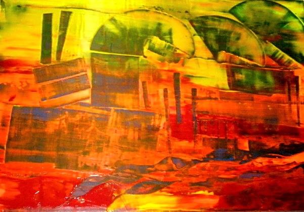 """""""Erinnerungen"""" - Acryl - 2008"""