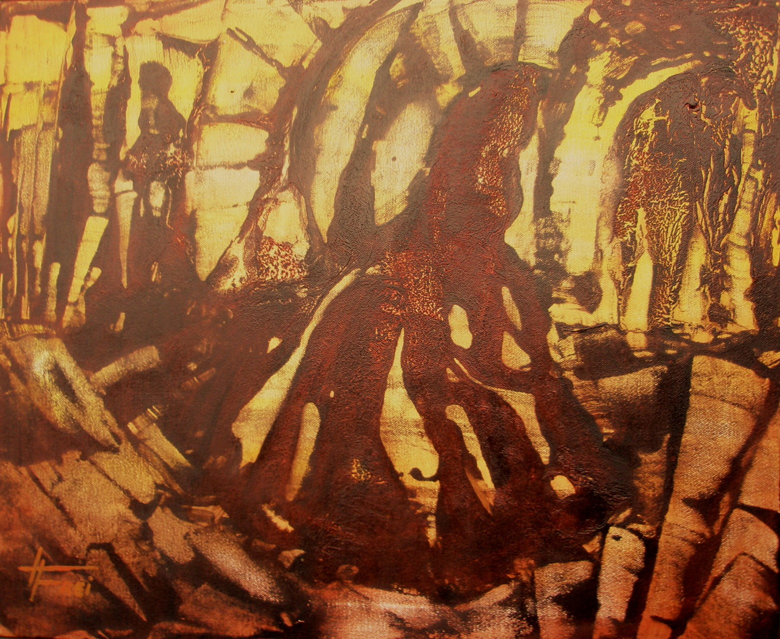 """ART HFrei - """"O.T."""" - Acryl - 2008"""