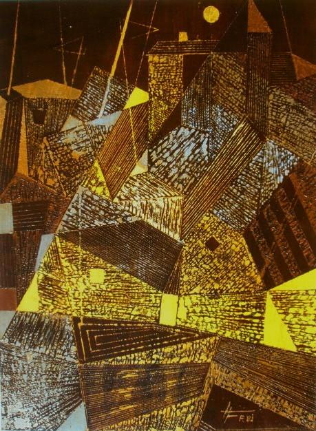 """ART HFrei - """"Kubistische Stimmung"""" - Acryl-Mischtechnik - 2008"""