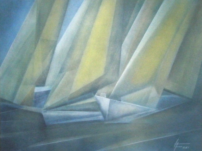 """ART HFrei - """"Boote"""" - Pastell - 2008"""