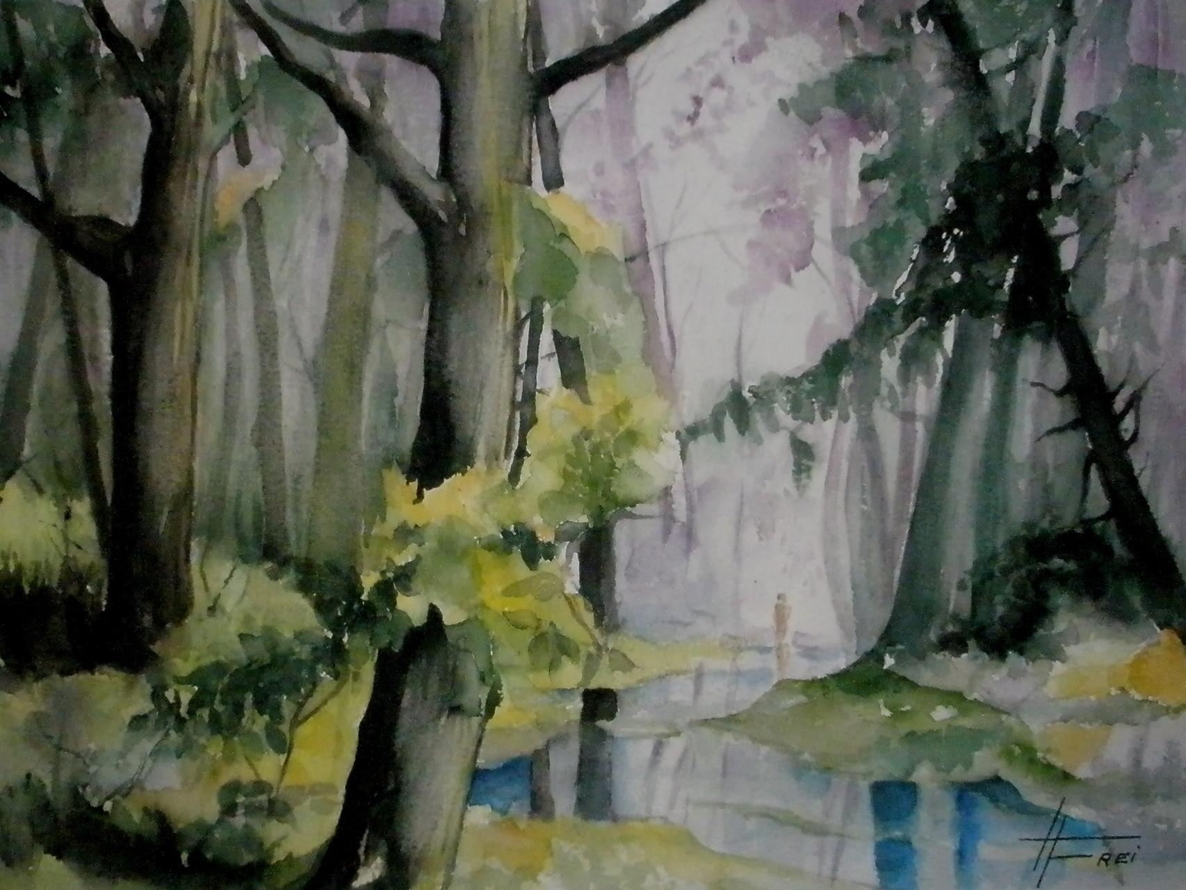 "ART HFrei - ""Waldspaziergang"" - Aquarell - 2007"