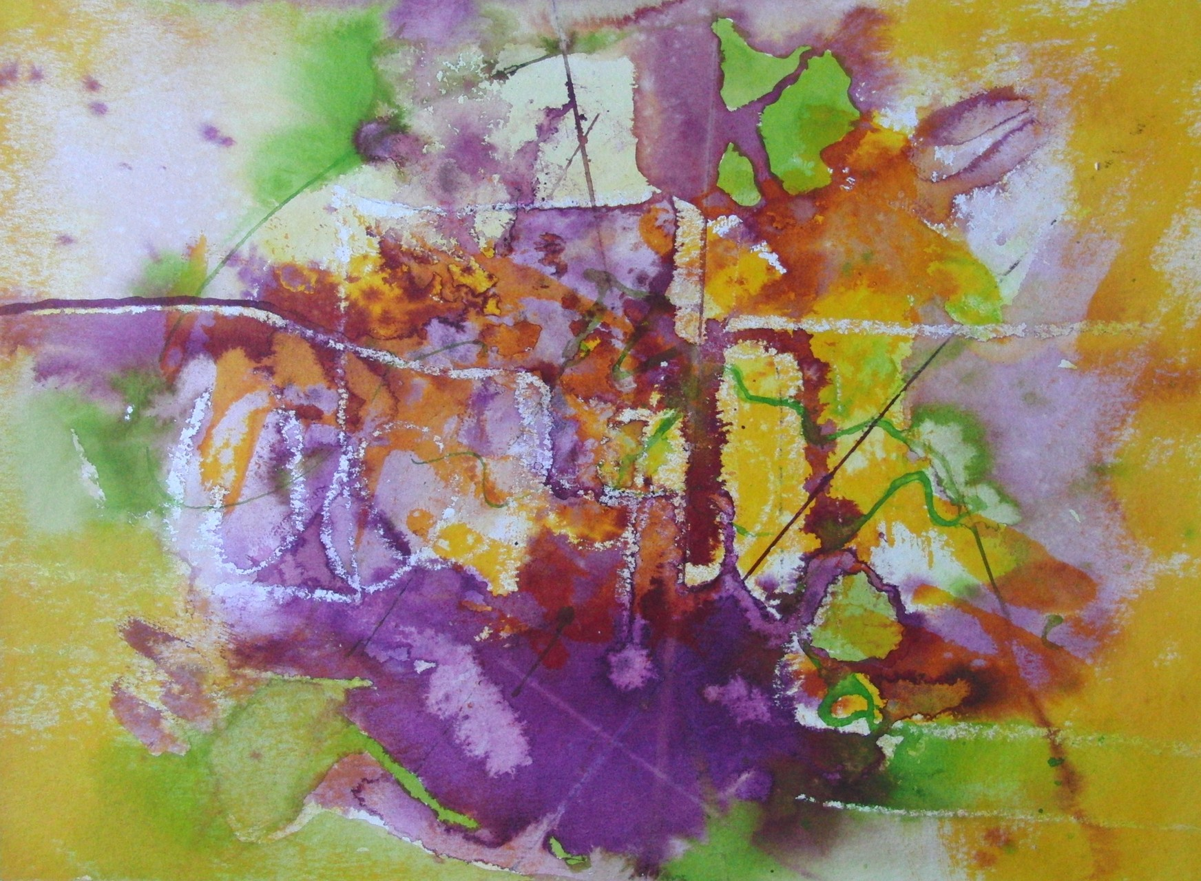 "ART HFrei - ""Farbenspiel in violett"" - Aquarell - 2012"