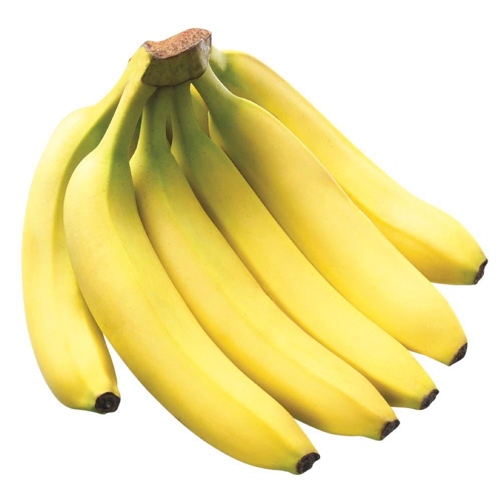يحتوي الموز على السكر والألياف