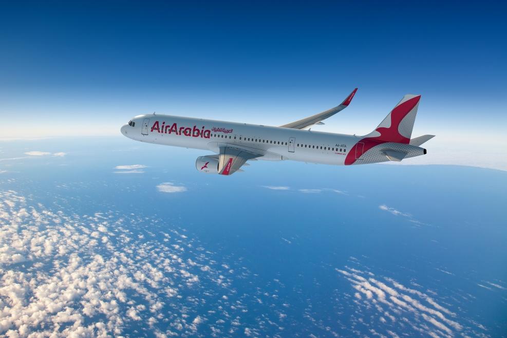 """يُشار إلى أن """"العربية للطيران"""" تُسيّر رحلاتها حالياً إلى أكثر من 170 وجهة عالمية في 50 دولة انطلاقاً من أربعة مراكز عمليات في دولة الإمارات العربية المتحدة والمغرب ومصر"""