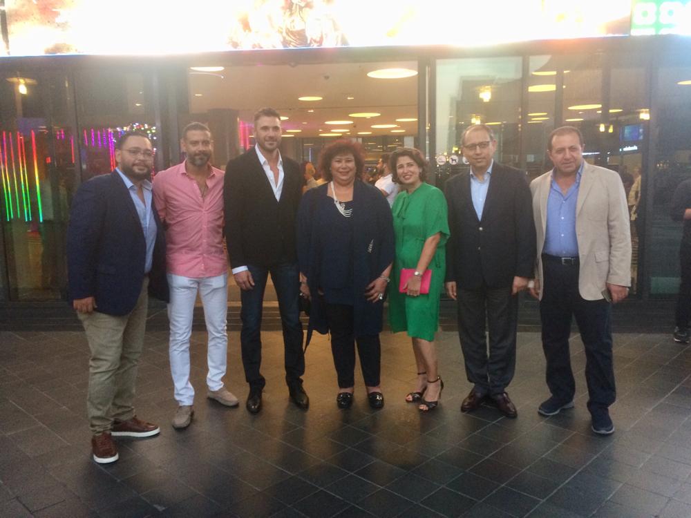 حضر النجم المصري أحمد عز وبطل الفيلم حفل افتتاح العروض التجارية للفيلم الجديد 'الممر' في سينما أسواق بيروت مساء السبت ٦ تموز/يوليو ٢٠١٩