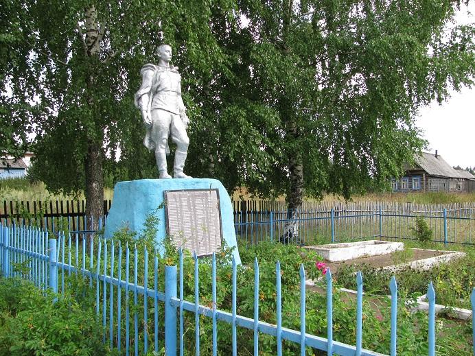 Памятник погибшим войнам, 1978 г. Граховский район, д. Макарово