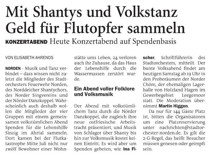 NWZ Sonntagsblatt vom 16.10.2021