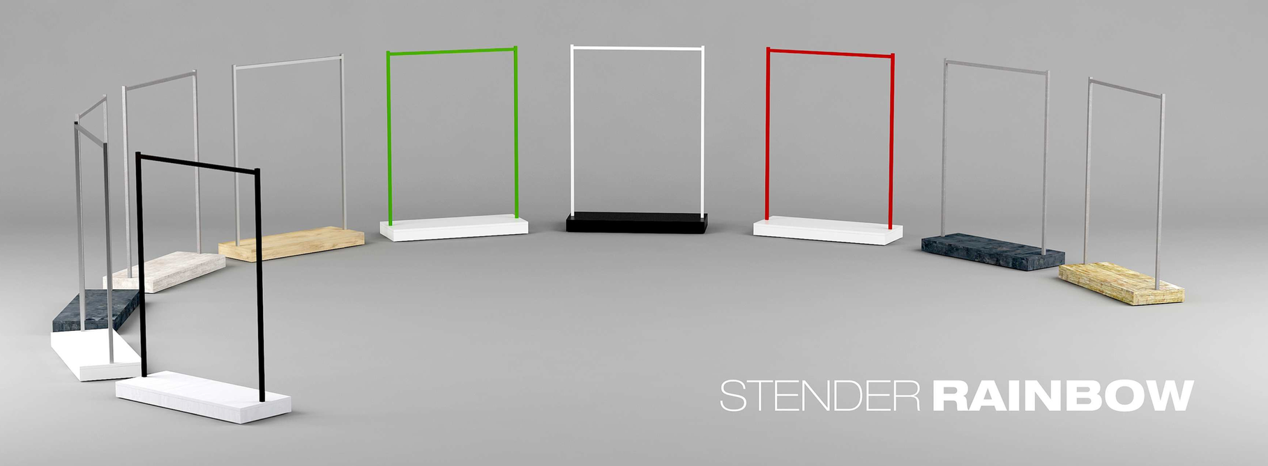 profi kleiderst nder auf rollen ladenausstattung schweiz. Black Bedroom Furniture Sets. Home Design Ideas