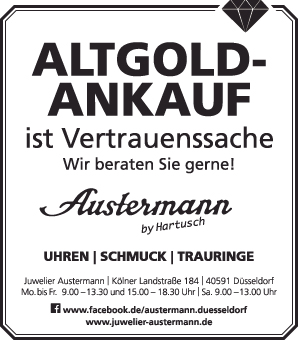 Goldankauf Düsseldorf Zahngold verkaufen Altgold Uhren