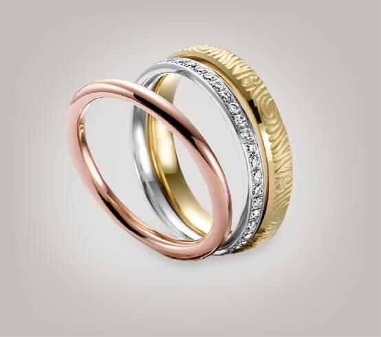 Alliance Ringe - schmale Goldringe