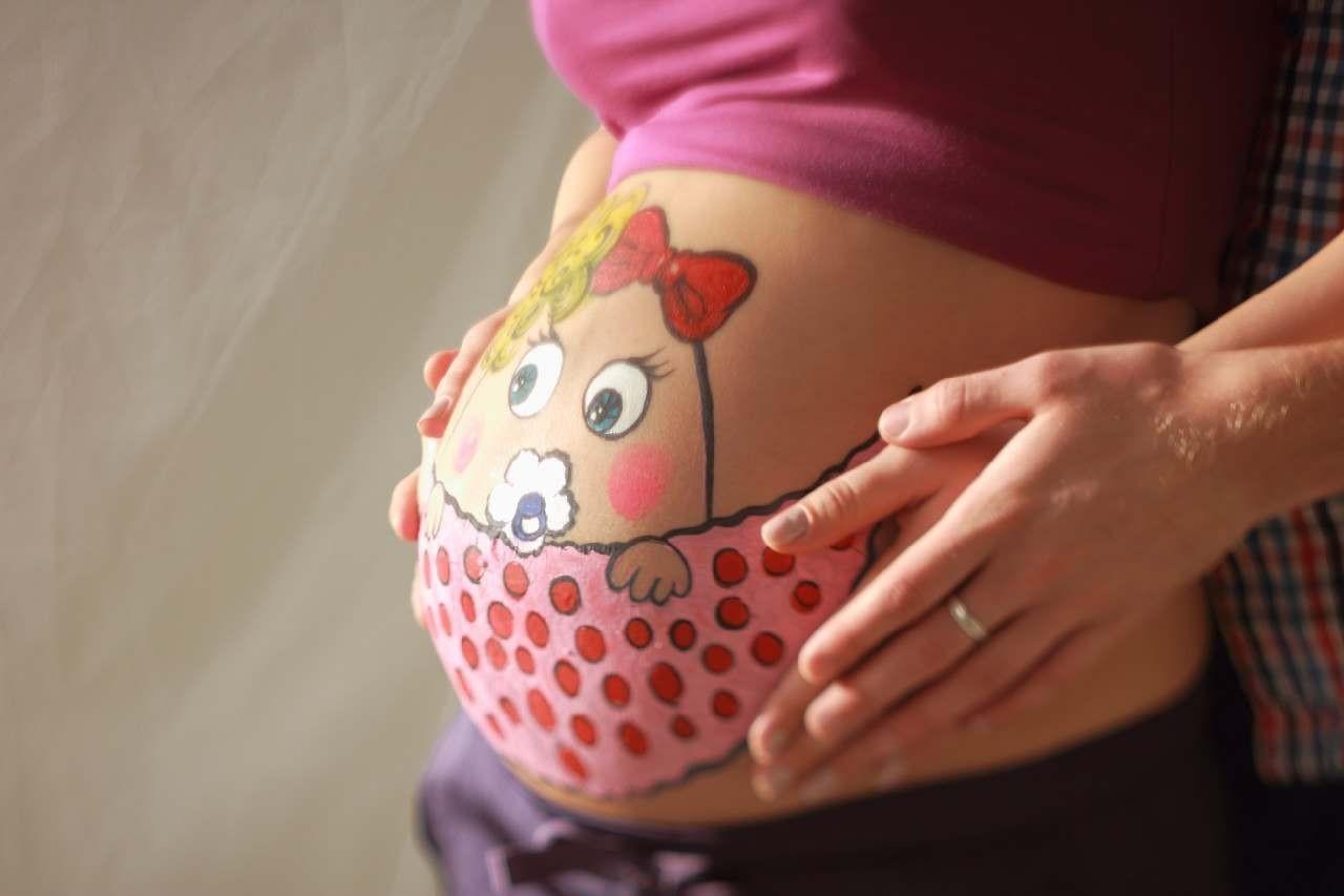 Картинки беременные на животе