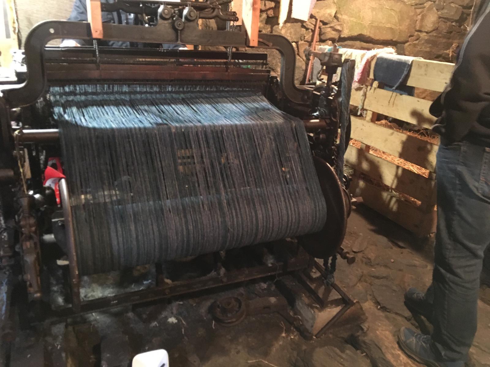 Der ca. 100 Jahre alte Hattersley Loom