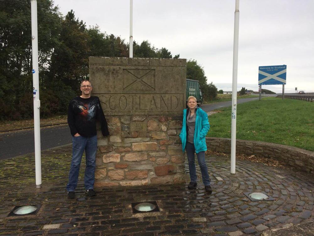 Grenze England - Schottland